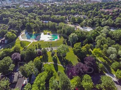 GER, Feature Luftbilder Serie der Muenchner Freibaeder