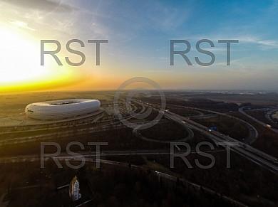 GER, Feature Luftbilder der Muenchner Allianz Arena