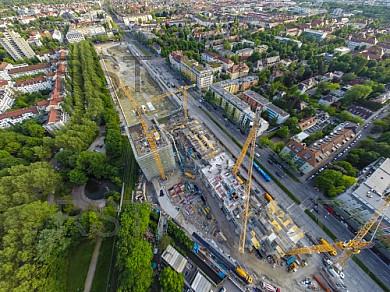 GER, Feature Luftbilder Baustelle Schwabinger Tor Leopoldstrasse