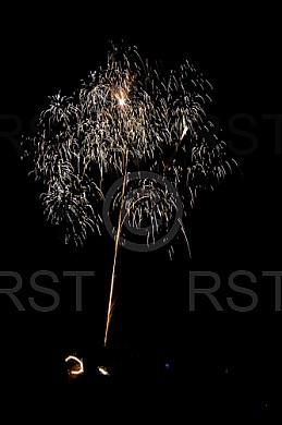 GER,Sylvesterfeier mit Feuerwerk auf dem Muenchner Luitpoldpark