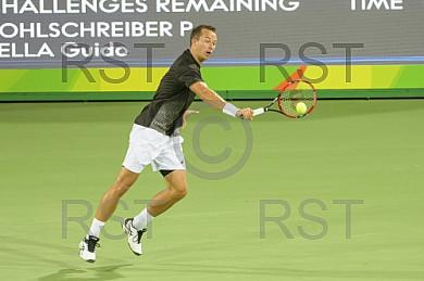 BRA, Olympia 2016 Rio, Tennis, Philipp Kohlschreiber (GER)  vs Guido Pella (ARG)