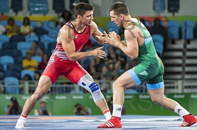 BRA, Olympia 2016 Rio, Kampfsport, Ringen 85kg , Bronze Medallien Kampf zwischen KUDLA Denis Maksymilian (GER)  vs. LORINCZ Viktor (HUN)