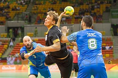 BRA, Olympia 2016 Rio, Handball Slovenien vs Deutschland
