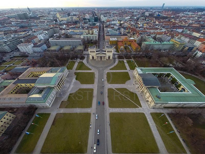 GER, Feature Luftbilder am Muenchner Koenigsplatz