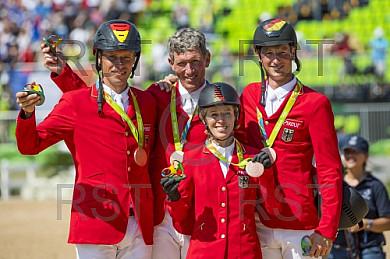 BRA, Olympia 2016 Rio, Reitsport , Team Springen Finale
