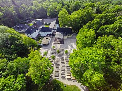 GER, Feature Luftbild des Augustiner Klosters Maria Eich in Planegg